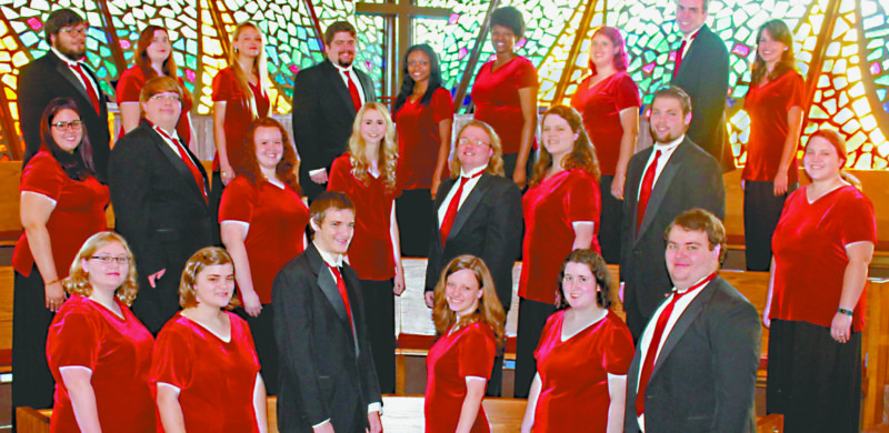 Submitted photo Davis & Elkins College Choir will perform several selections with two West Virginia Presbyterian churches.