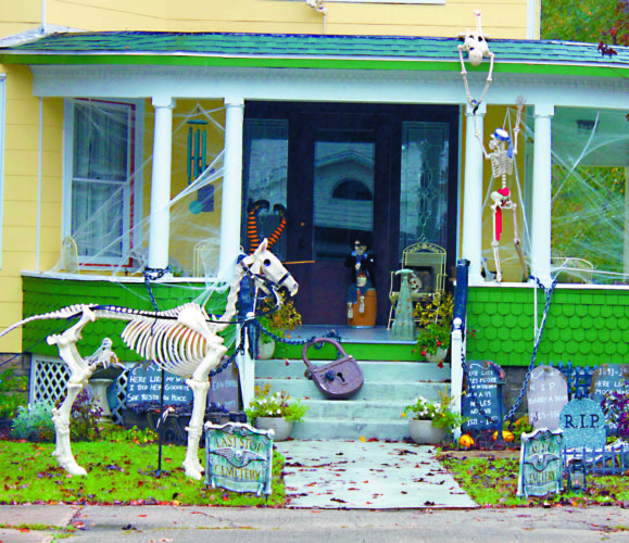 The Inter-Mountain Photo by Bonnie Branciaroli Some residents of Philippi are already preparing for the 'Spirit' of the fall season. Halloween is just around the corner and decorations adorn many homes along Main Street. Trick-or-Treat hours for Philippi are 5:30 -7 p.m. Monday, Oct. 31. Those wishing to participate in trick-or-treating are asked to turn on their porch light.