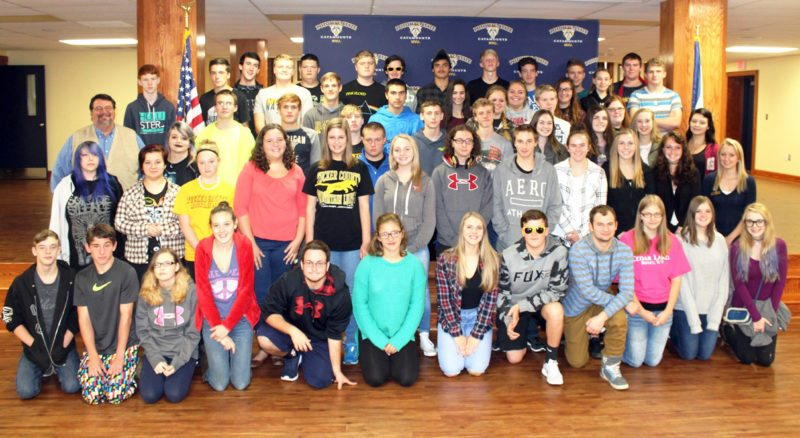 Submitted photo Tenth-graders from Tucker County High School recently visited Potomac State College of West Virginia University. Their time on campus included learning about admissions, financial aid and scholarship opportunities, academic offerings, housing and residence life.