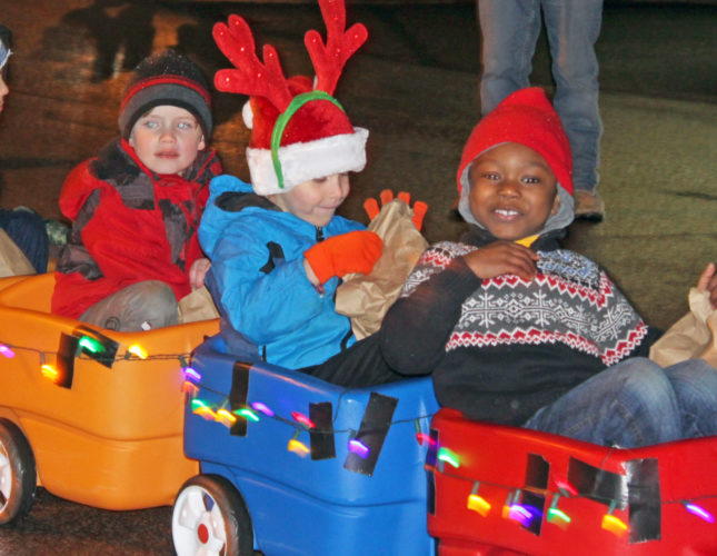 The Inter-Mountain photos by Bonnie Branciaroli Kids of all ages enjoy the Philippi Christmas Parade