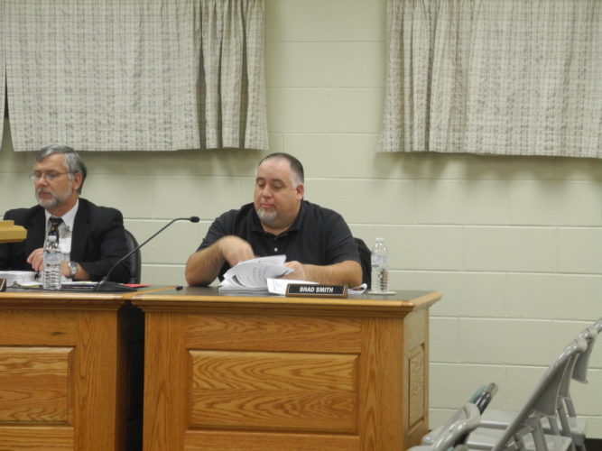 Randolph County Schools Chief Finance Officer Brad Smith offered a report to the board during their regular meeting on Tuesday in regards to state-wide cuts in funding.