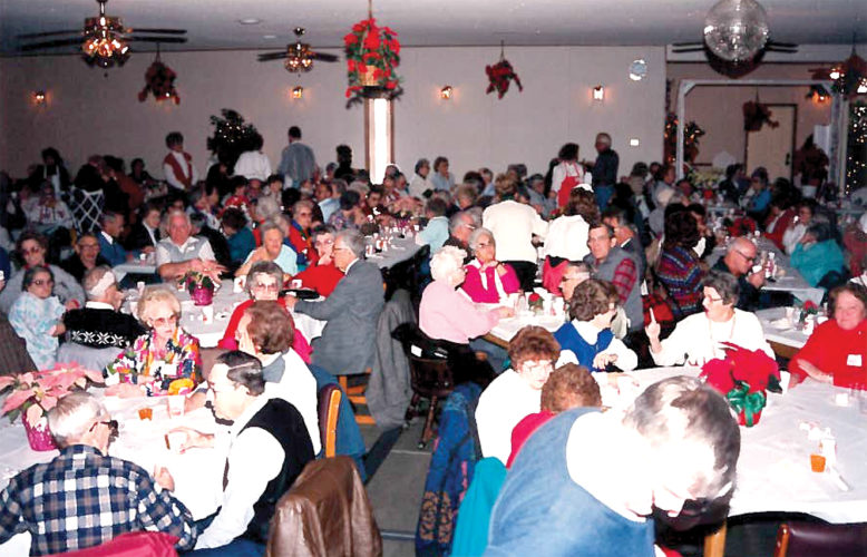 For the last 40-plus years, Jeanne Hart, Pam Hughes, family and friends have had a Birthday Party and Pageant for the senior citizens of Randolph and surrounding counties. Without the assistance of many area merchants, organizations and private individuals, this Christmas dinner could not be possible.