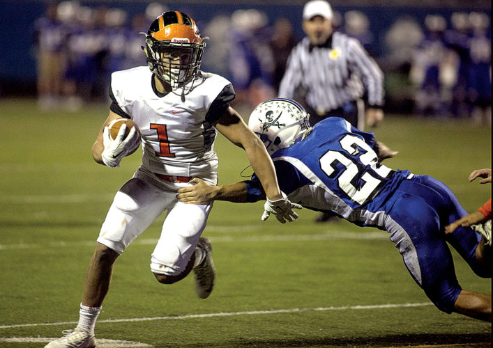 The Inter-Mountain file photo Elkins High senior Jarrette Zopp was named to the Big 10's All-Conference larger division team as a defensive back.