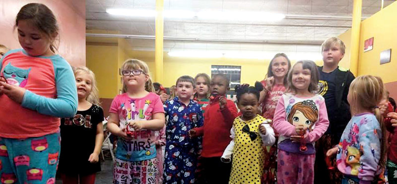 Submitted photos Pajamarama – Holidays Around the World takes place Dec. 15 in Philippi. Children and many adults attended in their pajamas.