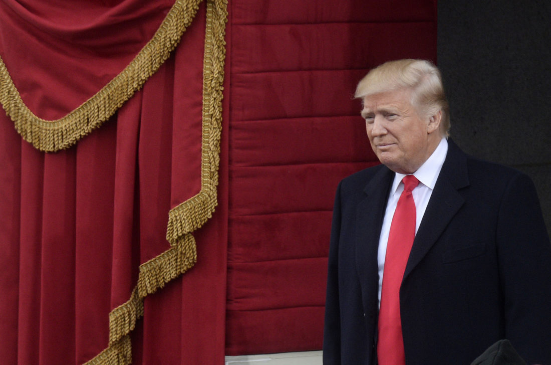 President Donald Trump arrives at the 45th Presidential Inauguration on Jan. 20, 2017, in Washington, D.C. (Olivier Douliery/Abaca Press/TNS)