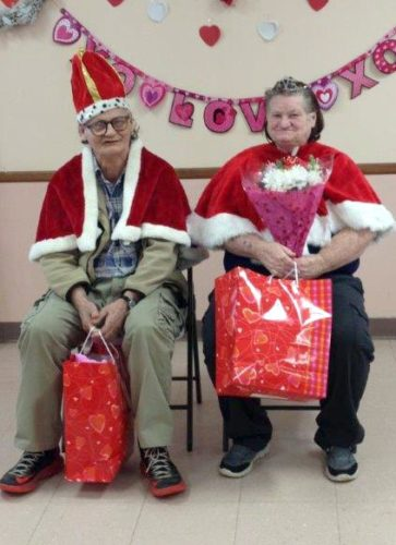 Submitted photo The Parsons Senior Center King and Queen of Valentines are Earl Moore and Rosie Moore, who are honored at the Valentine's Day party at the center, which was held Feb. 16