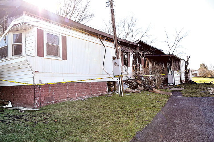 The charred remains of a trailer, located at 110 Kennedy St. in Elkins, is being investigated by the West Virginia Fire Marshal's office after a fire Saturday morning. After being put out by fire companies, the blaze restarted later the same morning.