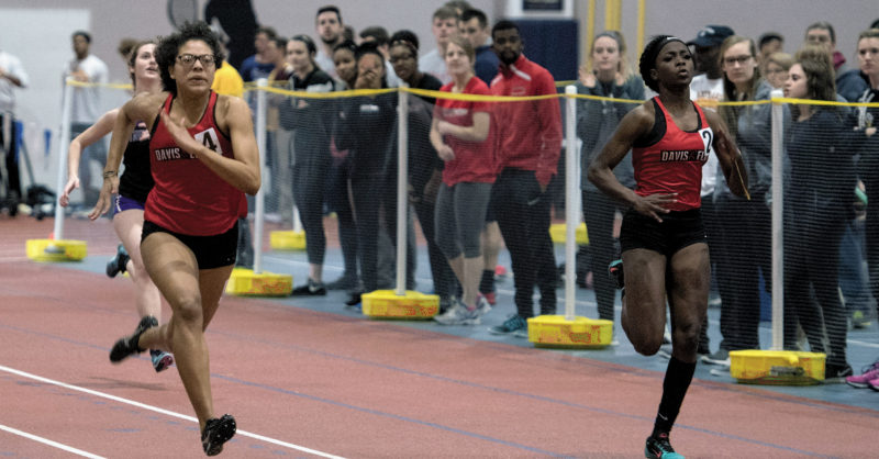 Photo courtesy of Davis & Elkins College  The Davis & Elkins College men's and women's track and field teams had a strong showing on Friday and Saturday at the Washington & Lee Carnival meet.