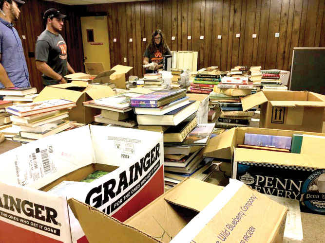 Literacy Volunteers of Upshur County will host its semi-annual book sale from noon until 3 p.m. April 20, from 8 a.m. to 5 p.m. April 21 and from 8 a.m. until noon April 22 at the Holy Rosary Catholic Church Social Hall, Franklin Street entrance.