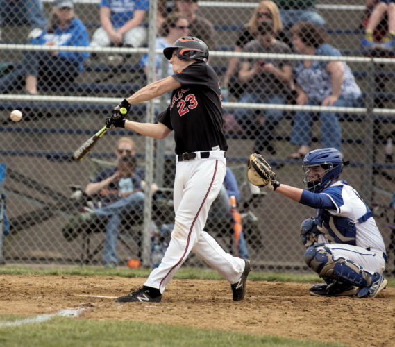 """By Ben Simmons For The Inter-Mountain TENNERTON — Blake Loftis crushed a home run Saturday, as Elkins cruised past Buckhannon-Upshur, 8-1, in Big 10 Conference baseball action. """"It was a really good game,"""" EHS coach Jack Crumm said. """"It was well played on both sides. It was our third game and we had no errors for the game. Our pitchers pitched really well and the fielders fielded really well behind them. I thought we played very well. I was pleased with the effort."""" Loftis set the pace for the Tigers, going 3 for 4 with 2 doubles, a home run and 2 RBIs. Luke Petrice also had a good day at the plate, going 2 for 3 with 2 RBIs. Kyle Riggleman finished the day 2 for 4 with an RBI, while Jesse Williams and Luke Swecker both collected singles. Matthew Gainer earned the victory in relief for Elkins. He pitched 3 innings, recording 2 strikeouts, 2 hits and a walk. Adam Riggleman started for EHS. In 4 innings of work, he gave up 1 run on 2 hits, while striking out 6 batters. Taylor Whitehair shouldered the loss for the Bucs. He gave up 2 runs on 4 hits in 5 innings, while striking out 4 batters and walking 2 others. The Tigers opened the scoring in the top of the fourth inning, but the Bucs answered with a run of their own in the both half of the stanza. Elkins regained the lead in the top of the fifth inning, going up 2-1. EHS later exploded for 6 runs in the top of the seventh inning to put the game away. Elkins (3-0) is set to return to action today when the team travels to Preston County for a varsity only contest. Game time is set for 6 p.m. Buckhannon-Upshur is set to host Lincoln today at 4:30 p.m."""