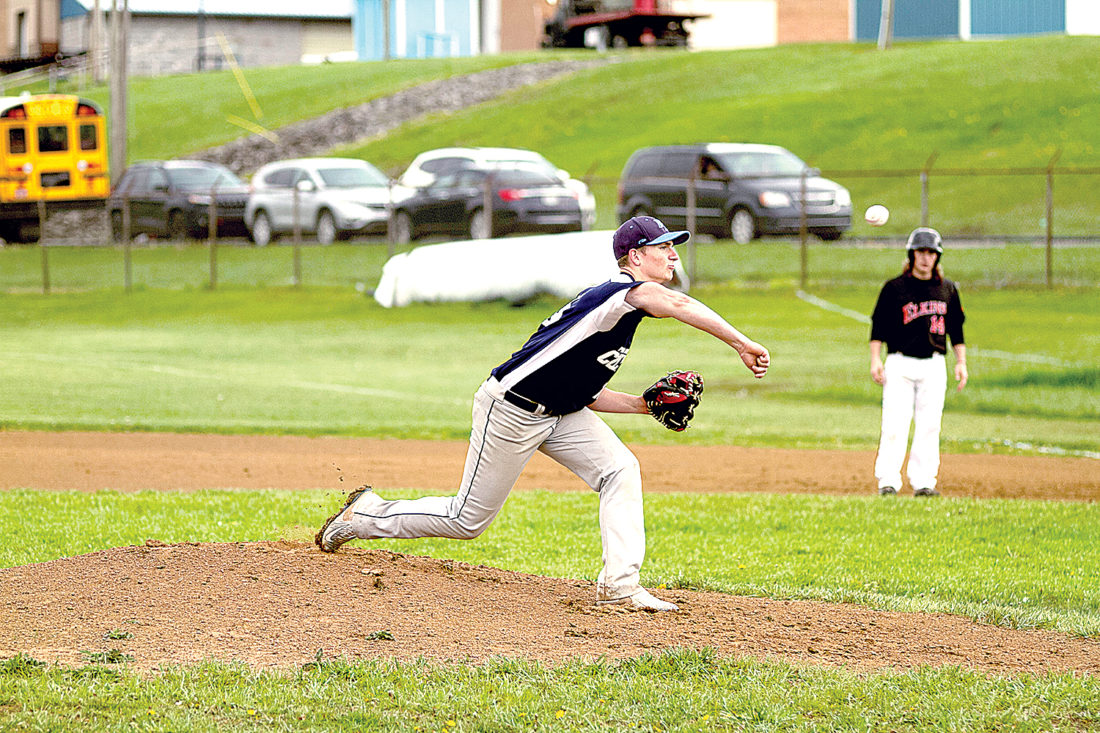 Aaron Fowler delivers a pitch toward home plate Thursday for Philip Barbour.