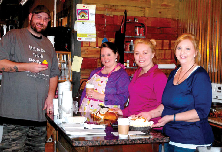 The Antler Room staff includes, from left, Dave Brogan, Tabitha Brogan, Desiree Johnson and Amy Berg.