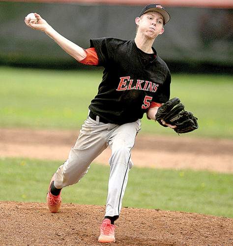 Ben Huffman was the starting pitcher on the mound for Elkins Tuesday.