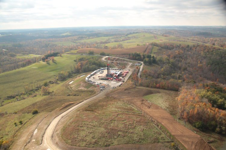Photo provided / Rice Energy operates several productive wells in Belmont County. The company produced 758 million cubic feet of natural gas per day from April through June, a 43-percent increase over the prior year quarter.