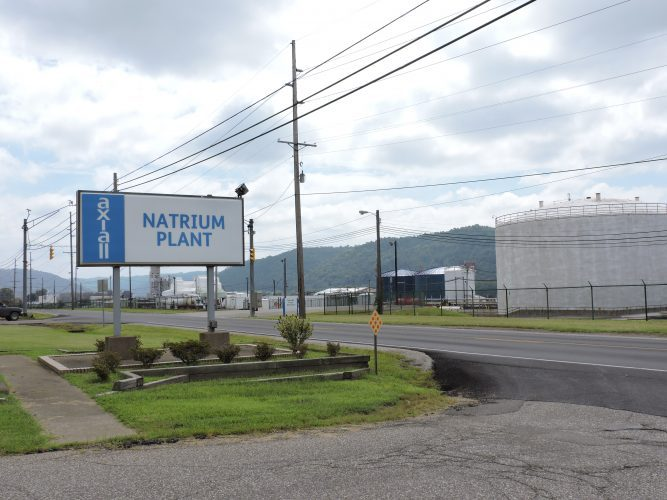 Photo by Alan Olson - Axiall Corp.'s plant near New Martinsville conducts business as usual Monday following a leak of chlorine gas over the weekend.