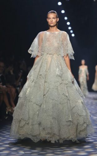 AP Photo The Marchesa collection is modeled during Fashion Week in New York.