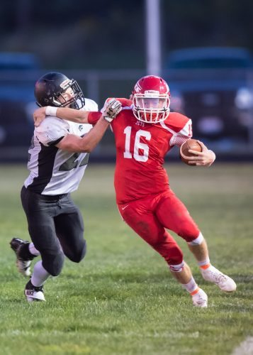 Union Local's Brian McWhorter runs during Friday's game.