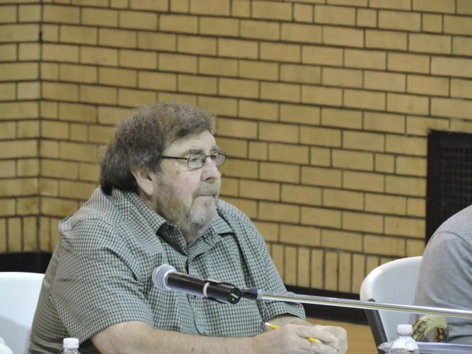 T-L Photo/DYLAN McKENZIE  Buckeye Local Board of Education Joe Zelek listens to the issues at Monday's board meeting.