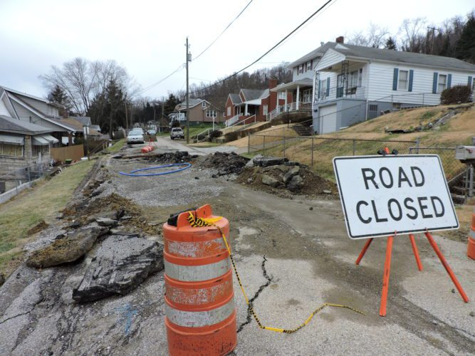 T-L Photo/SHELLEY HANSON THE CITY of Martins Ferry is another step closer to securing enough money to repair the North Eighth Street slip — a job expected to cost $619,000.