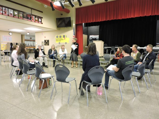 A group of eastern Ohio residents came together on Saturday at River High School in Hannibal to talk with environmental advocates and government officials about the impact of the oil and gas industry on natural resources.