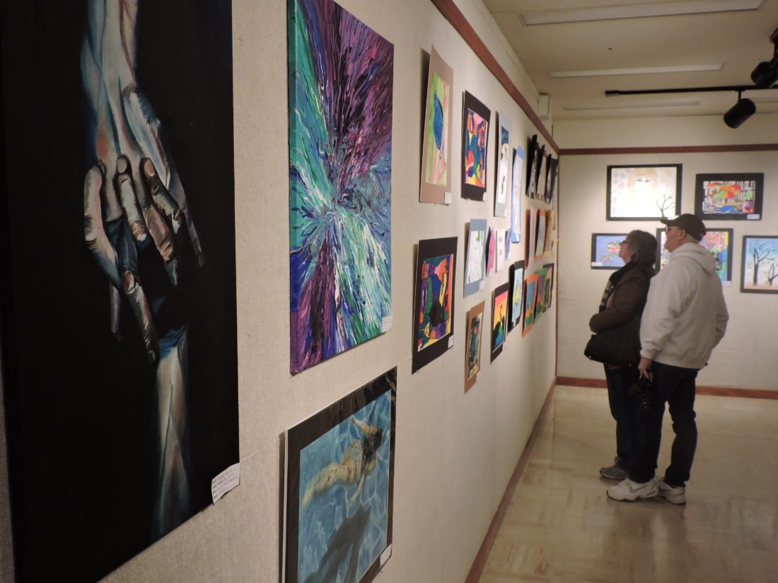 belmont county students show their stuff at showcase news photo by alan olson top patrons examine art on display from students throughout belmont county