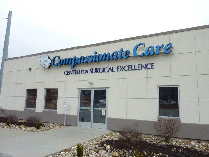 The Compassionate Care Center for Surgical Excellence has closed after about three years of operation.       Photo by  Linda Comins