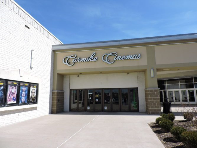T-L Photo/JANELL HUNTER  The Carmike Cinemas at the Ohio Valley Mall was closed on Wednesday for a technical switchover. The Carmike chain recently was acquired by AMC Theaters, and all Carmike theaters will undergo similar transitions to the new company soon.