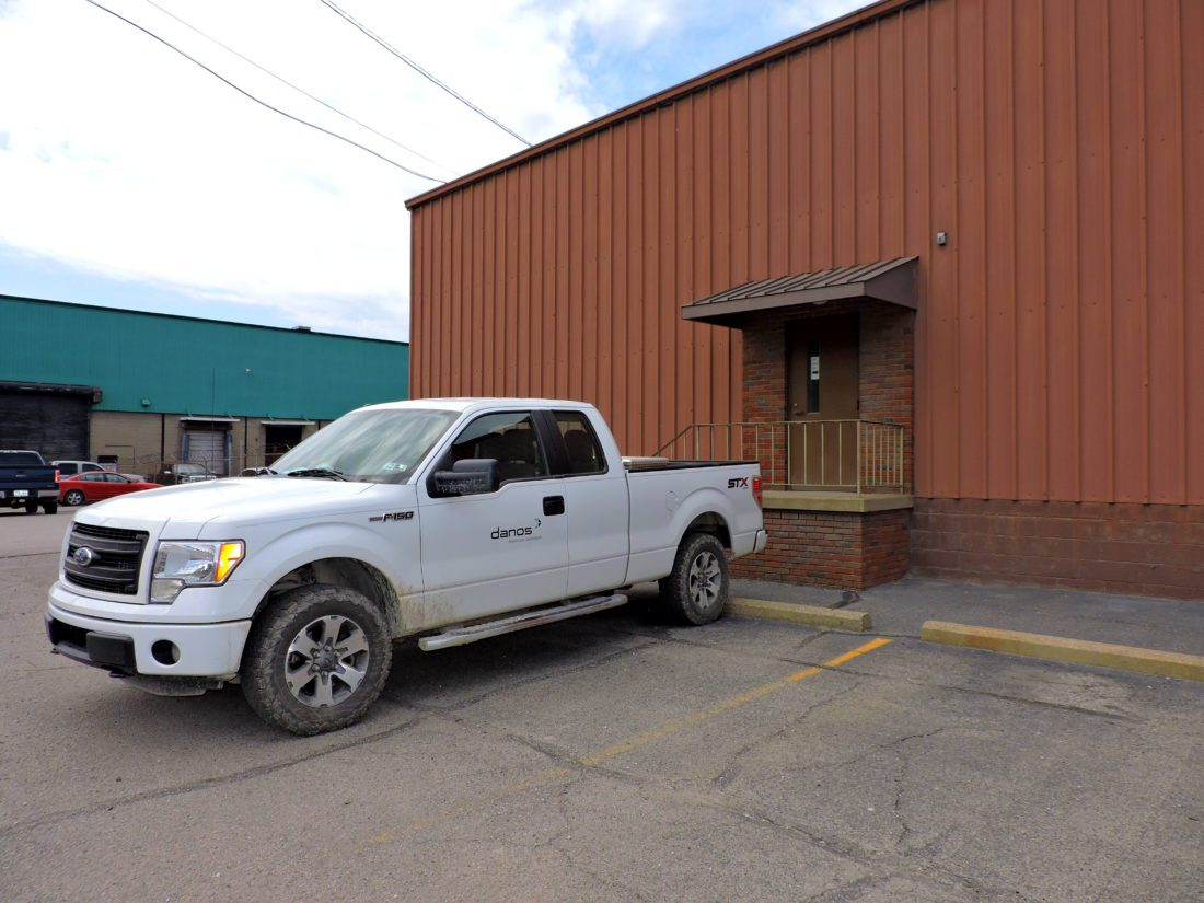 T-L Photo/SHELLEY HANSON OILFIELD service provider Danos is opening a new office and workshop at this building shown here on First Street in Martins Ferry.
