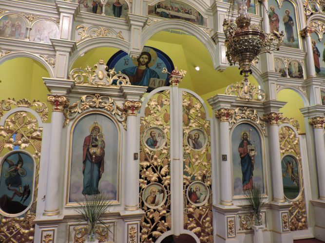 """The elaborate and ornate Iconostasion at the St. Nicholas Orthodox Church separates the sanctuary from the nave. According to the church, the division """"serves to remind us that God's reign is not complete and that we often find ourselves 'separated' from God, through sin."""""""