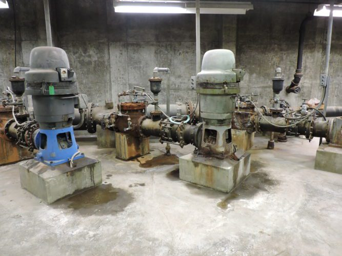 Corrosion throughout the Bellaire Water Treatment Plant – such as the high service pump room – has wreaked havoc on the facility's machinery components.