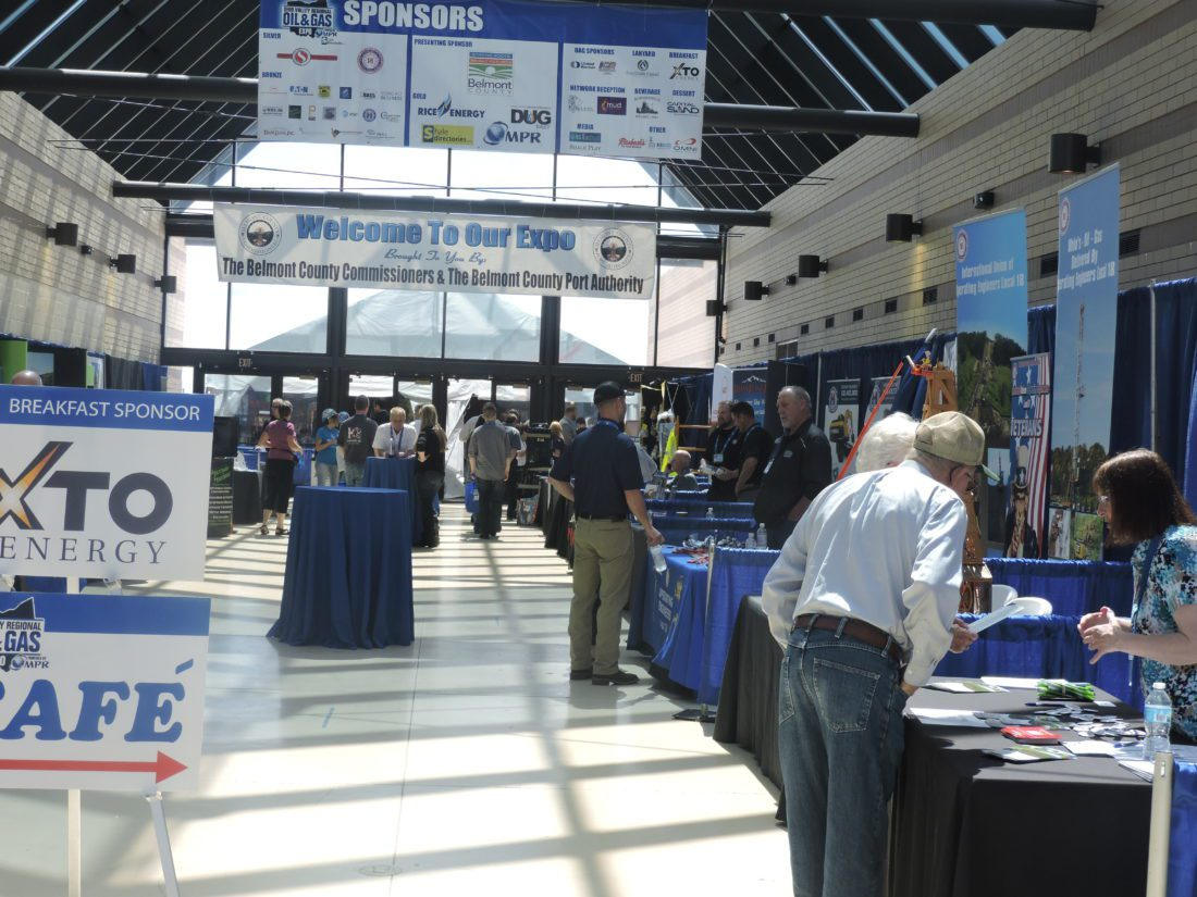 T-L Photo/ROBERT A. DEFRANK A crowds gathers at the sixth annual Ohio Valley Regional Oil and Gas Expo. Past and new attendees had a chance to network and plan for the future of the industry in the local area.  Oil and Gas expo looks to future growth