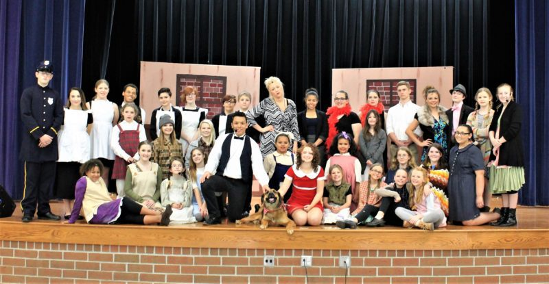 """Photo provided The cast of Bridgeport High School Theater Department's production of the musical """"Annie."""""""