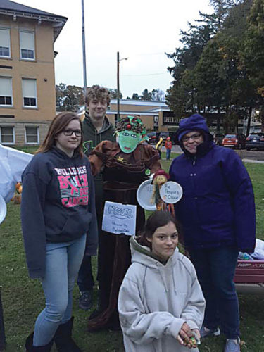 Medusa created by the Mythology Class at TCCS won the People's Choice award.
