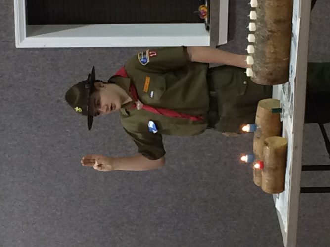 Sugar Grove Boy Scout Troop 17 recently awarded some badges to their members. A full list of badges is listed in the community news. Pictured is Jack Shaw, who received the World Conservation Award.