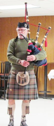 Photos submitted to Times Observer Jack Patterson provided a Patriotic Medley on the Bagpipes at the Veterans Day Services at VFW Post 8803.