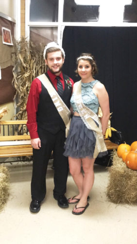 Photos submitted to Times Observer Conor Coughlin was crowned King and Lakin Krouse was crowned Queen for the Tidioute Charter School Homecoming.