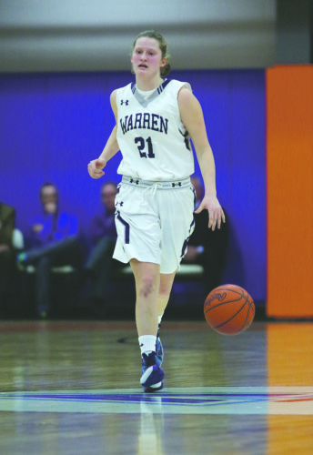Warren sophomore guard Margo Loutzenhiser is one of the key returners for the Lady Dragons in 2016-17.
