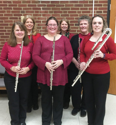 Photo submitted to Times Observer Silver Winds Flute Choir prepares Winter Winds — a free concert scheduled for 4 p.m. Sunday, Dec. 4, at the First United Methodist Church in Warren. From left, in front, are Rebecca Darbee, Olivia Zapel, and Nancy Scott and, in back, Laura Whitten, Betty Fitzgerald, and Penny Chaffee.