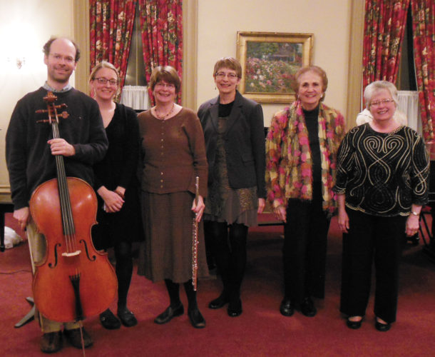 Photo submitted to Times Observer From left are James Pearson, Kate Pearson, Denise Pearson, Mary Beth Whiting, Rosalind Hupp, and Joan Eighmey.