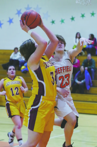 Elk County Catholic's Reilly Herzing (34) is one of the top girls players in District 9.