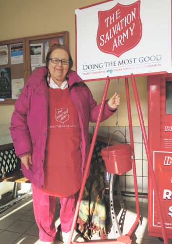Times Observer photo by Stacey Gross Dessie George is in her 12th year as a Salvation Army bell ringer.