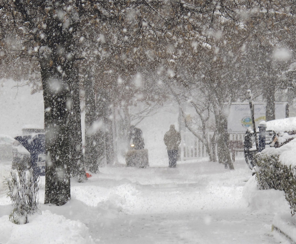 Times Observer photo by Brian Ferry Liberty Street in Warren was a wintry wonderland during a snowstorm Friday morning.