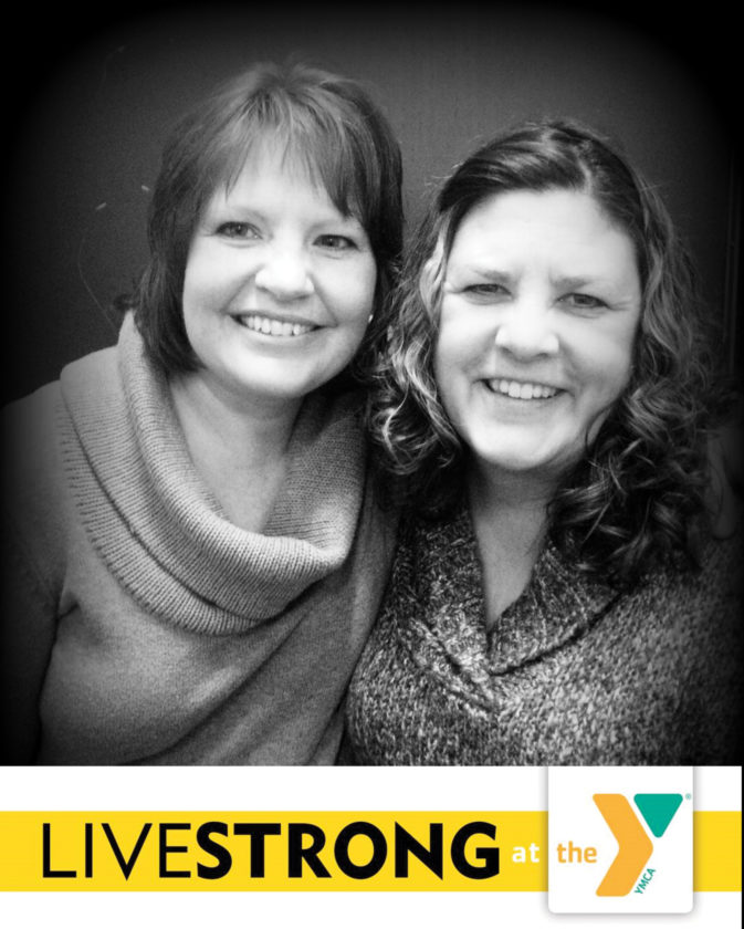 Lori Peterson and Connie Zaffino, two past participants of LIVESTRONG at the Y program.