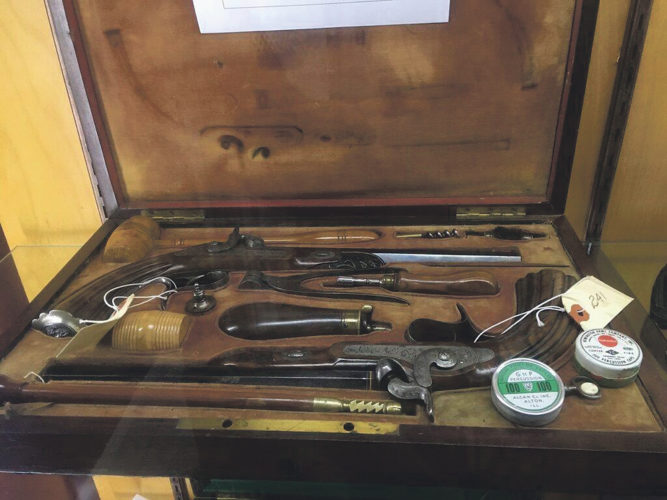 Photos submitted to Times Observer Dueling Pistols are a part of the Joseph DeFrees Antique Gun Collection that will be on display at the outdoor show this weekend.