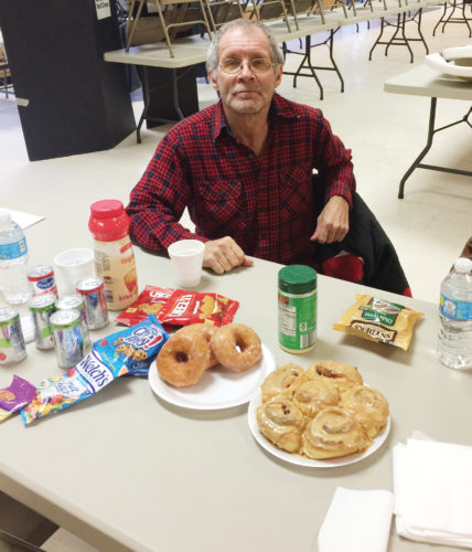 Photos submitted to Times Observer Thank you to all those in the Sugar Grove community who came out to donate blood for the American Red Cross on Wednesday. Picture is Daniel Stewart enjoying the Amish dinner and pastries available for all those who donated.