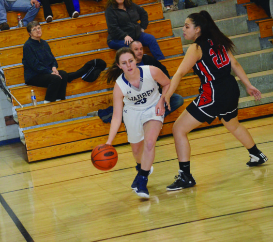 Warren senior Megan Wortman scored eight points in a 47-30 road win against East on Thursday.