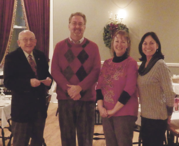 Photos submitted to Times Observer From left, Lion John Crone with newly-sponsored member David Powell, and Lion's President Angie Dart with newly-sponsored member Sherry Tune.