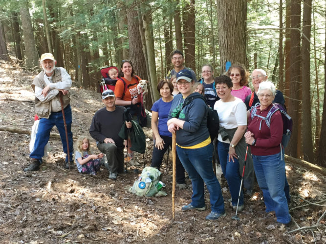 Photo submitted to Times Observer Hike 100 participants enjoy the North Country Trail near Henry's Mills in 2016. (Photo taken by Tina Toole)