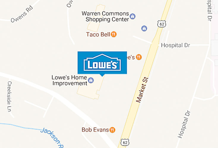 https://www.lowes.com/store/PA-Warren/2614 Lowe's, North Warren, would like to see a reduction of assessment and corresponding drop in property taxes at 2625 Market St., Conewango Township.