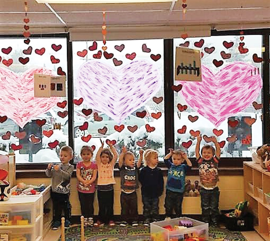 Photo submitted to Times Observer The Warren County YMCA, in an effort to celebrate 150 years of continued service to the Warren Community, is celebrating February with 150 healthy community hearts. Stop in on Tuesday, Feb 14, from noon to 4 p.m. or Friday, Feb. 17, from 8 a.m. to noon and participate in the Primary Health Care healthy heart free blood pressure screening. Primary Health Care's goal is to do 150 healthy heart screenings. When you stop in and get your screening you get a heart to hang up at the Y. Along with Primary Health Care, the Warren County YMCA child care department class rooms have decorated their classes with 150 hearts. The Warren YMCA is located at 212 Lexington Ave., Warren Pa. 16365. Shown here is the PreK 1 class of the Warren YMCA with their 150 hearts display for childcare.